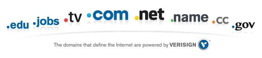 The domains that defines the internet are powered by Verisign