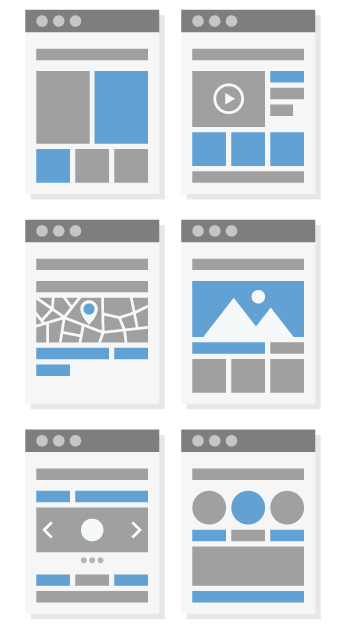 Get your website discovered by search engines with these layouts.